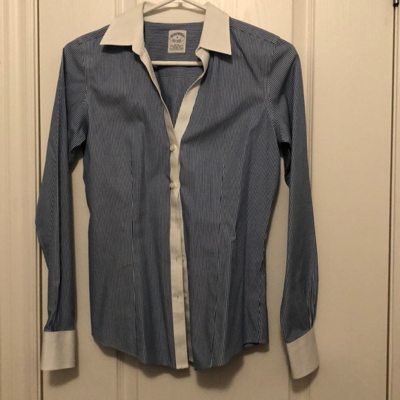 Brooks Brothers fitted non iron shirt in sz 0